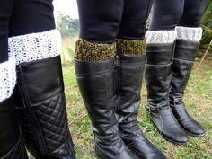 """Receita de Tricô: """"Boot Cuffs"""" ou """"Polainas de Botas"""" em tricô"""