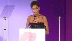 Nicole Scherzinger breaks into song at Cosmopolitan Awards in tribute to Nelson Mandela