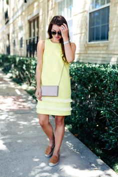 Yellow Shift Dress - Dallas Wardrobe