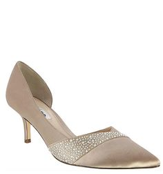 The most beautiful and comfortable champagne crystal satin, crystal adorned, pointed toe d'orsay pumps with a chic setback low heel, the Bethany creates a luxurious attitude with the illusion of height and shimmering crystals. | Nina Shoes Bethany http://ninashoes.com/bethany-champagne-crystal-satin--19070?c=939&utm_source=Pinterest&utm_medium=Social%20Media%20Campaign&utm_campaign=Bethany%20Champagne%20Crystal%20Satin