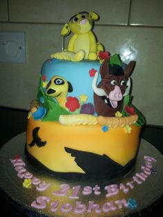 Disneys simba lion king cake