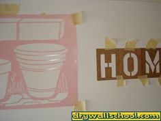HOW TO DO A DRYWALL MUD STENCIL