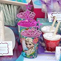 Disney Frozen Party Ideas - Party City I like the idea of spray painting the crowns blue and sparkly