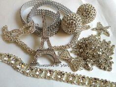 Work in progress! Bride Accessories, Starfish, Swarovski Crystals, Bows, Arches, Bowties, Bow, Ribbon, Boutique Bows