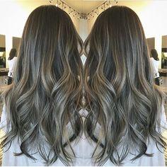 Silver balayage. Color by @hairbykana  #hair #hairenvy #haircolor #balayage #silver #highlights ...