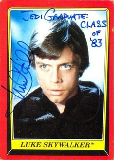 Mark Hamill's hilarious Star Wars trading card autographs   Blastr