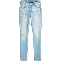 True Religion Distressed Skinny Jeans ($239) ❤ liked on Polyvore featuring jeans, blue, ripped skinny jeans, true religion jeans, destructed jeans, bleached ripped skinny jeans and skinny jeans
