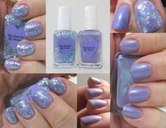 Blue-Eyed Girl Lacquer Showers on Flowers and Dew in Lieu of Frost (April Showers Duo) #blueeyedgirllacquer #begl #beglove #swatch #indiepolish