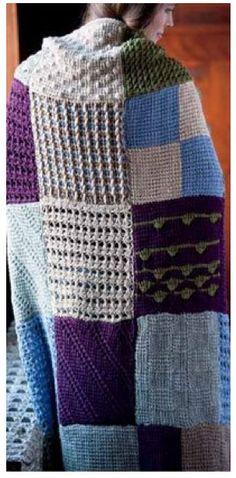 Tunisian Crochet Sampler Quilt Afghan design by Lisa Daehlin for The New Tunisian Crochet Book_Interweave Image