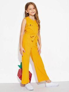 Dresses Kids Girl, Kids Outfits Girls, Cute Girl Outfits, Girls Fashion Clothes, Tween Fashion, Cute Dresses, Fashion Outfits, Dress Fashion, Jumpsuits For Girls