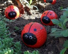 Make your own golf ball ladybugs | Craft projects for every fan!