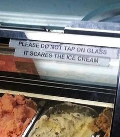 Ha, scare the ice cream