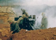Fire mission! The Marines' big guns fire during the Siege of Khe Sanh. BRAVO…