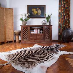 African Zebra Animal Hide Skin Rug   eBay
