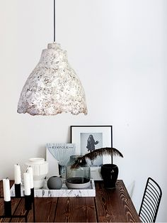 """The PaperMoon Factory, """"Eggshell Concrete Light"""" Concrete Light, Paper Moon, Perfectly Imperfect, Egg Shells, Light Shades, Bold Colors, Chalk Paint, Industrial Design, Earthy"""