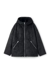 Amanda Jacket is a fine outerwear piece lined in a soft imitation fur. 120 €