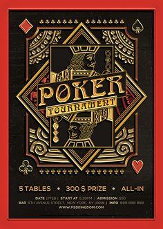 Poker Magazine Ad, Poster or Flyer – Flat & 3D by Alex Lasek, via Behance