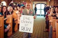 Have the ring bearer carry a silly message down the aisle for the groom! | From the Hip Photo | #colorado #wedding #realwedding