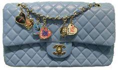bfcc23ef0fc5 Chanel Blue Valentines Chanel Classic Flap, Chanel Handbags, Purses And  Handbags, Chanel Bags