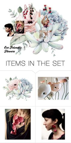 """Eco Friendly Flowers !"" by patricia-peters-1 ❤ liked on Polyvore featuring art"