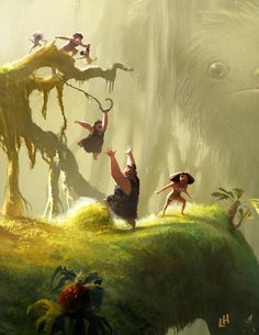 Leighton Hickman art ★ The Croods Environment Concept Art, Environment Design, Animation Background, Art Background, Disney Character Drawings, Disney Drawings, Disney Concept Art, Pixar Concept Art, Color Script