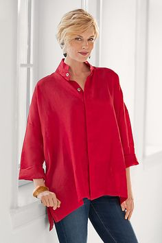Linen Signature Shirt by Planet: Linen Shirt available at www.artfulhome.com