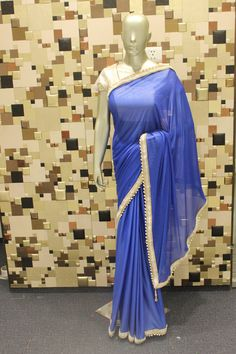 Blue Color Indian #Designer #Bollywood #Saree #Blouse by Shoppingover