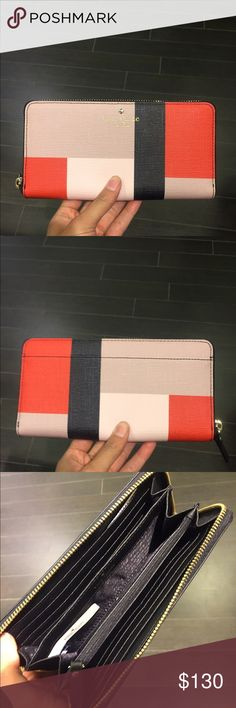 NWT ♠️🌸 Kate Spade Wallet 🌸♠️ Brand-new with tags. Kate Spade wallet fits many cards and cash. Beautiful color and leather. (No trades ) kate spade Bags