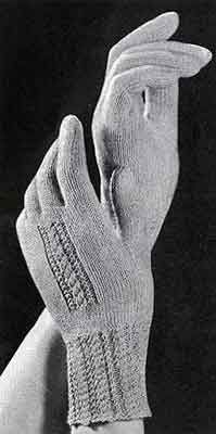Women's Gloves knit pattern originally published in Gifts to Crochet and Knit, Book 94. #knitting #glovepatterns