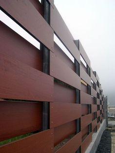 PAM - afsluiting in houten panelen - Atalaya Park, Arminza, Lemoiz, Bizkaia, Spanje - G Arquitectos
