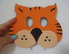 Máscara de Tigre Laranja