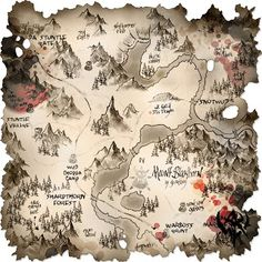 Hall of Heroes: Tips for making RPG maps Fantasy Map Making, Fantasy World Map, Warhammer Fantasy, Fantasy Rpg, Paint Photoshop, Art Science Fiction, Art Cyberpunk, Dnd World Map, Rpg Map