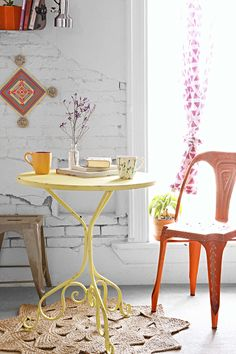 Absolutely love this bistro table. It's the perfect alterantive to an actual kitchen table since my living space is limited- Plum & Bow Scroll Bistro Table