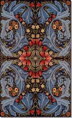 Fabric design by William Morris and his apprentice and successor Henry Dearle for a sofa seat. A panel was woven by Morris & Co. after the death of Morris and while Dearle was running the company Mucha Art Nouveau, Motifs Art Nouveau, Textile Design, Fabric Design, Inchies, Architecture Art Nouveau, Illustration Art Nouveau, William Morris Art, Art Chinois