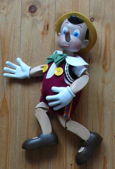 Wooden Carved Pinocchio Puppet By Mondoantico On Etsy