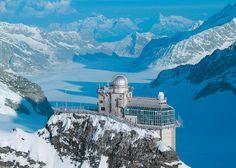 Jungfraujoch – Sphinx \\ Bilder von der Sphinx - das höchste und markante Gebäude auf dem Jungfraujoch–Top of Europe. An schönen Tagen reicht die Sicht von den Vogesen bis zum Schwarzwald.