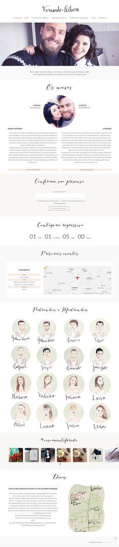 Casamento Fer e Dé - Wedding Website on Behance