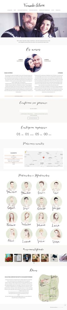 Casamento Fer e Dé - Wedding Website on Behance