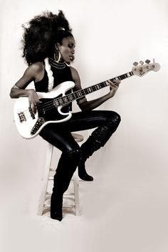 "nikwestbass: "" Nik West Bass Q Magazine Germany "" U Go Girl, Guitar Scales, Guitar Girl, Female Guitarist, Boogie Woogie, Jimi Hendrix, Gorgeous Women, Beautiful People, Rock And Roll"