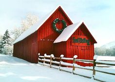 The Red Barn in Sun Valley (central). Photo by Amy G Taylor. Sun Valley Idaho, Barn Pictures, Country Barns, Farm Barn, Thing 1, Christmas Scenes, Red Barns, Stone Houses, Barn Quilts