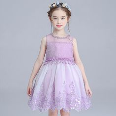 (32.08$)  Watch now - http://ai20z.worlditems.win/all/product.php?id=32688855255 - girls pageant dress for wedding costume birthday sleeveless knee-length ball gown flower girl dresses elegant princess dress