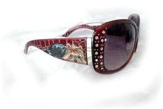 Yorkie Hand Painted Rhinestone Sunglasses Dog Art by Sugarspiceart | eBay