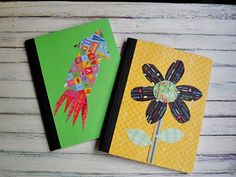 Decorated Composition Notebooks. (The ones @Natashia Reid made were much cuter.) #ToDoAgain