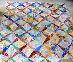 scrap quilt 'Dresden Star' from Quilt Magazine. Very similar in design to Crossed Canoes.