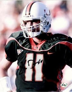 Autographed Ken Dorsey Photo - Miami Hurricanes 8x10. - Autographed College Photos by Sports Memorabilia. $50.09. Ken Dorsey Autographed Miami Hurricanes 8x10. Dorsey was the CO-MVP in the 2002 Rose Bowl. Holds school records with 9,486 total offense yards, 9,565 passing yards , 86 passing touchdowns, 668 pass completions ,1,153 pass attempts, and 38 victories as a starting quarterback. Offensive Player of the Year in 2001 and 2002. Drafted by the San Francisco 49ers in t...