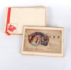 18 Re-Created Postcards with Envelopes Antique Distressed Design Look Christmas Holiday 6.5 x 4.5. Christmas Greetings postcard type cards