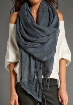 Oversized scarves: spring edition. (via me and Alice)