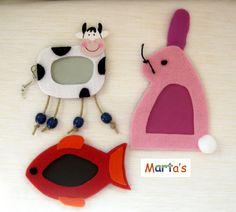 fridge magnets as photo frames
