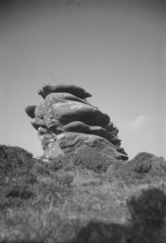 'Photograph of a stone formation at Kilmar Tor, Cornwall', John Piper, – Tate Archive John Piper, Cornwall, Printmaking, Bro, 1930s, Landscape Photography, Archive, Goth, Stones