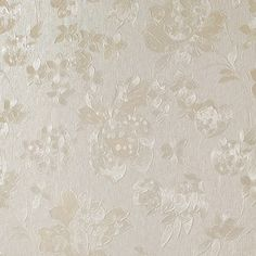 Floral Silk Cream Shimmer Wallpaper by Graham and Brown